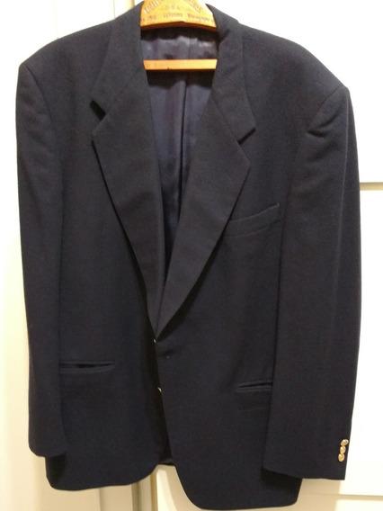 Saco Hombre Azul Oscuro. Pierre Cardin. Talle Xl. Lana.
