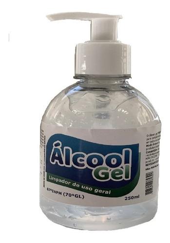 Imagem 1 de 2 de Alcool Gel 70% Antisséptico Higienizador 250ml Proclean