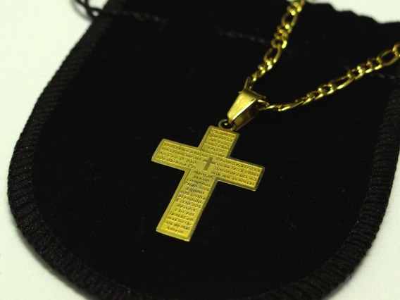 Corrente Grumet 3x1 3mm Com Pingente Crucifixo