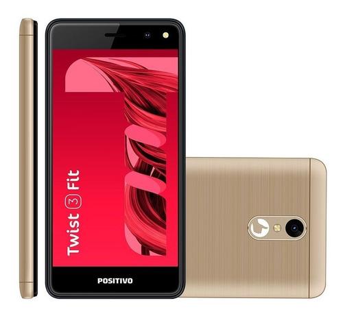 Celular Smartphone Positivo Twist 2 Fit S509 8gb Dourado - Dual Chip
