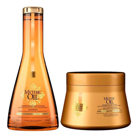 Shampoo Mascara Baño De Crema Loreal Mythic Oil Fino Normal