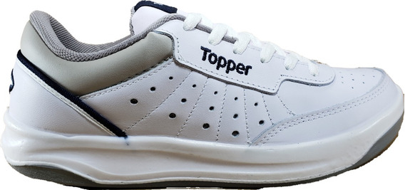 Zapatilla Topper X Forcer Ad. Tenis Cuero Vacuno Megacaseros