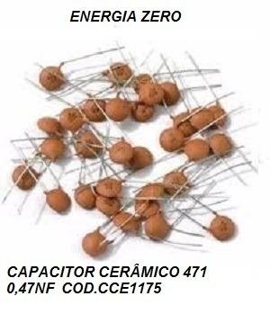 Capacitor Cerâmico 471 0,47nf Pac12 Uni Cod.cce1175 Frete Cr