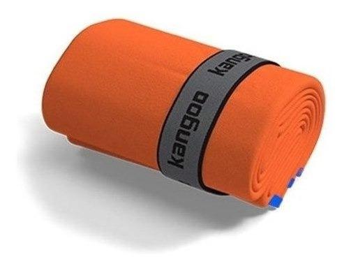 Toalla De Microfibra Kangoo Talla S Color Naranja Con Azul