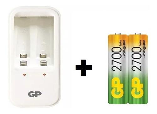 Baterías  Pilas Aa 2700 Mah +  Cargador  2 Slots Oferta
