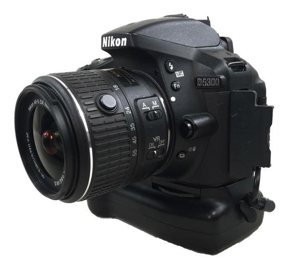 Câmera Nikon D5300 Kit 18-55mm Com Grip