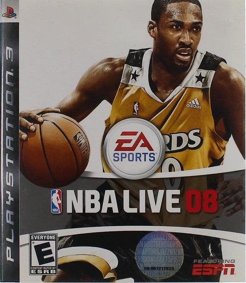 Ps3 Jogo Nba Live 08 Playstation 3 Lacrado Original Game
