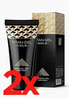 Pack 2 Titan Gel Gold Original Ruso Envio Gratis