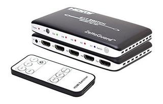 Zettaguard 4k X 2k 4 Puertos 4 X 1 Hdmi Switch