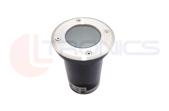 Led Solo Parede Escada Inox Round Base Redonda Tubo 109mm