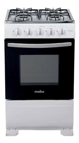 Mabe Cocina 4 Quemadores Gas 51cm Inoxidable Blanca Em5100