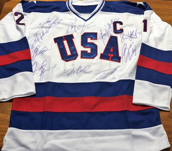 Camisa Hóquei Estados Unidos Autografada 10 Ídolos