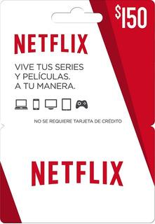 Tarjeta De Netflix $150 (entrega Inmediata)