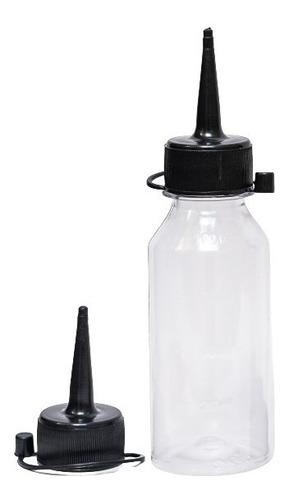 Imagem 1 de 4 de 15 Frascos Plastico 100ml Vazio + Bico Aplicador F0100b28