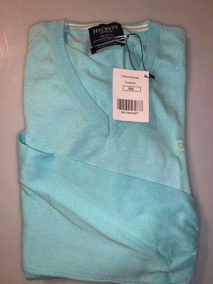Sweater Hackett London Talla Xxl, Lana/algodón Caballero