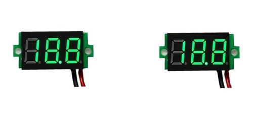 Voltimetro Digital Mini 7 Segmentos Tres Cables 0.36  Verde