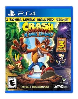 Crash Bandicoot N Sane Trilogy Ps4 Incluye 3 Juegos + Bonus