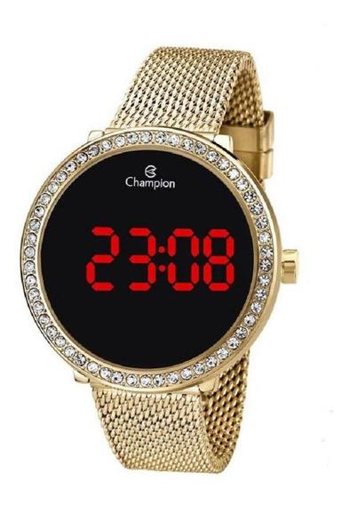 Relógio Champion Feminino Digital Led Ch48037v Dourado