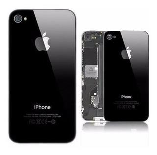 Tampa Traseira Vidro iPhone 4s Preta Black Fundo