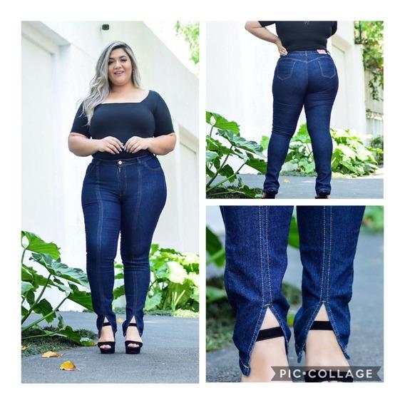 Calça Jeans Plus Size Abertura Tornozelo Barata Promoção