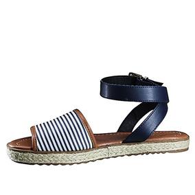2857c9610 Sandálias e Chinelos Femininas Sandálias Moleca Azul-escuro com o ...