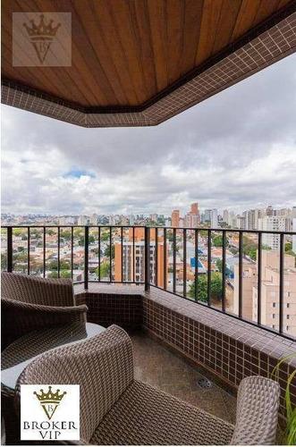 Apartamento Com 3 Dormitórios À Venda, 160 M² Por R$ 1.450.000,00 - Campo Belo - São Paulo/sp - Ap5594