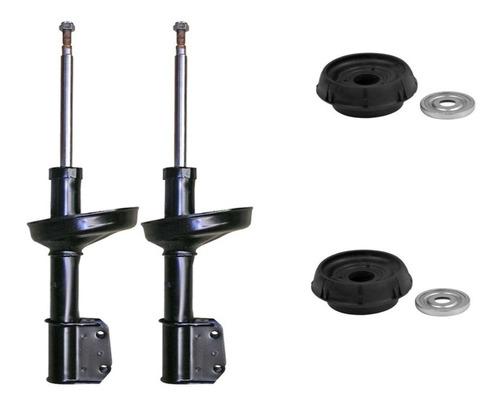Kit 2 Amortiguadores Delantero+ Cazoleta C/rodam Clio 2 1.6