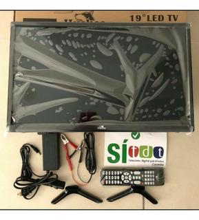 Televisor Led 19 Tv19 Tdt, Monitor, Usb, 110 V Y 12 V
