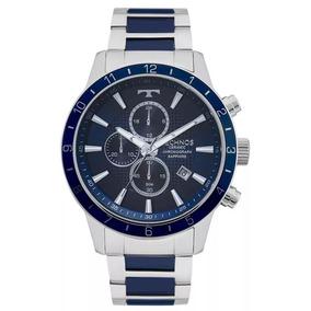 Relógio Masculino Technos Js15fj/1a - Prata/azul