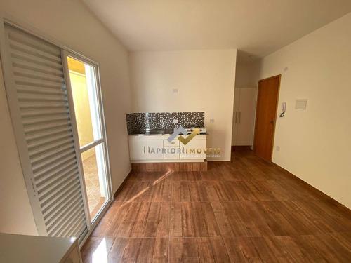 Kitnet Com 1 Dormitório Para Alugar, 27 M² Por R$ 1.200,00/mês - Bangu - Santo André/sp - Kn0031