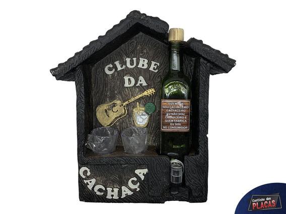 Pingômetro Casinha Clube Da Cachaça Em Gesso Bar Decoração