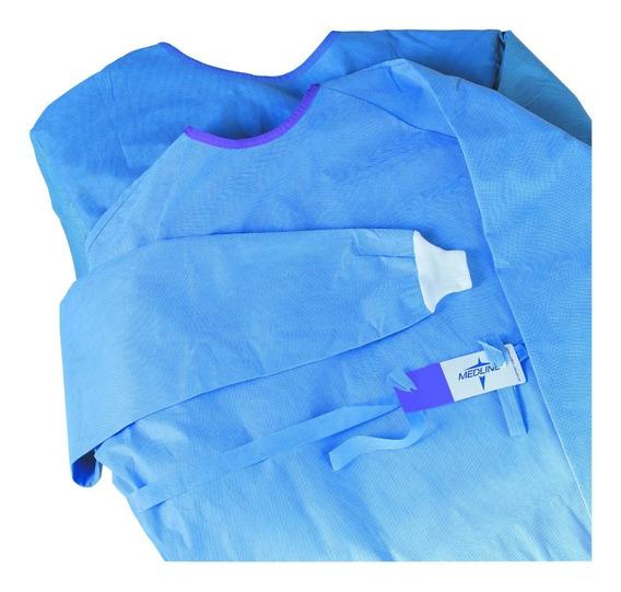 Bata Quirurgica Azul Desechable Grande 1pz Esteril Ligera