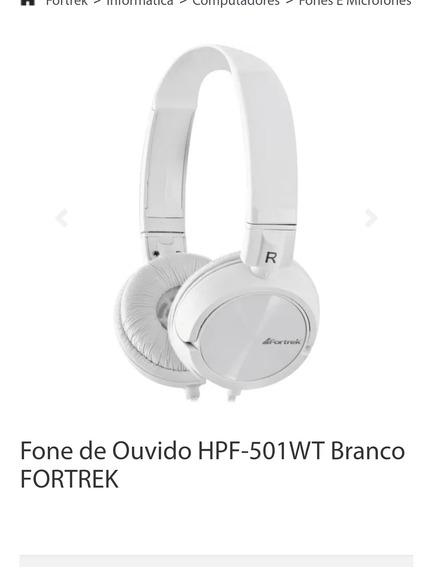 Fone De Ouvido Hpf-501wt Branco Fortrek