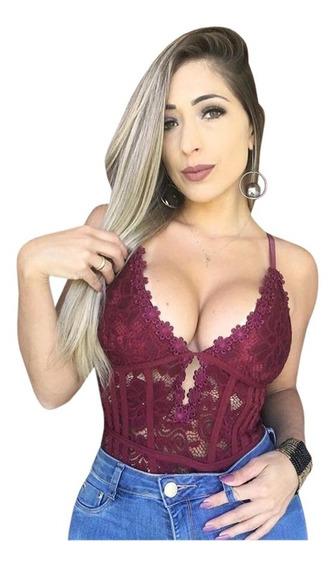 Body Renda Rendado Espartilho Alça Mariana Ruy Promoção 2019