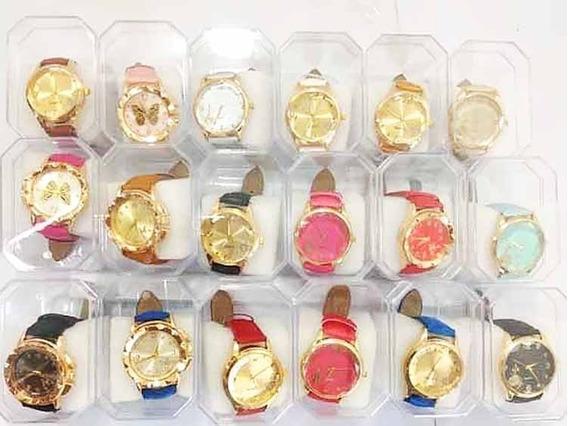 Kit Com 10 De Relógio Feminino Couro Sintético Promoção