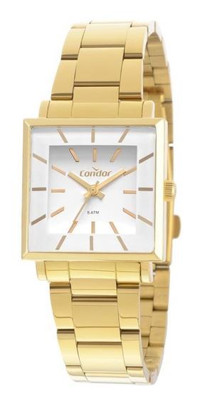 Kit Relógio Condor Feminino Dourado Co2035exm/k4b + Nf
