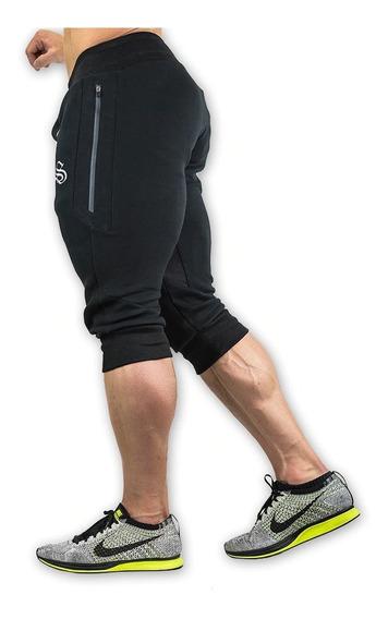 Short Jogger Capri Slim Fit Talla Grande (gris, Negro Y Rojo