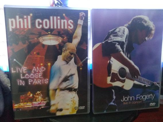 Dvd Phil Collins E John Fogerty - Live