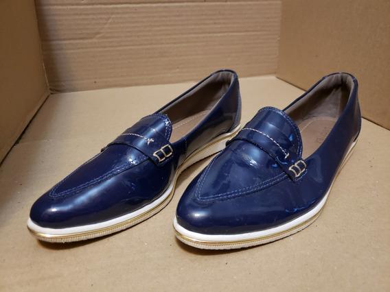 Sapato Mocassim Usaflex Luxor Verniz Couro Blush - Lindo