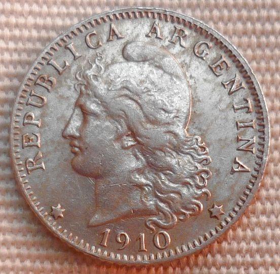 Argentina Moneda 20 Centavos 1910 Casi Sin Circular+