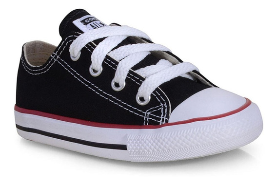 Tênis All Star Converse Kids Branco E Preto Ck0001 -original