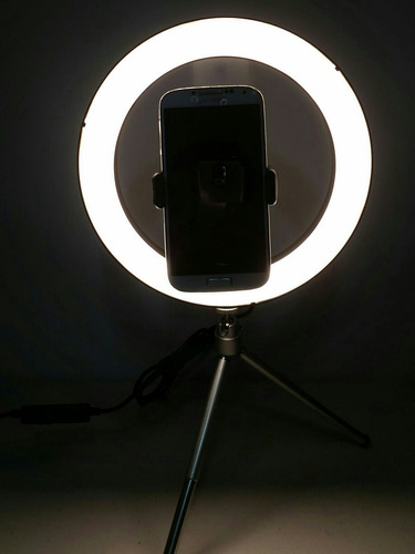 Imagen 1 de 2 de Aro De Luz Led  De 8.5 Pulgadas Con Tripode De 7 Pulgadas