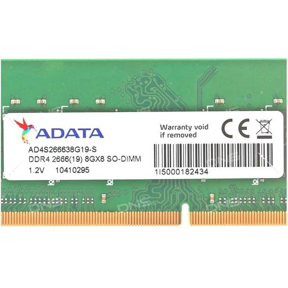 Memória Notebook 8gb Adata Ddr4 2666 Mhz Ad4s266638g19