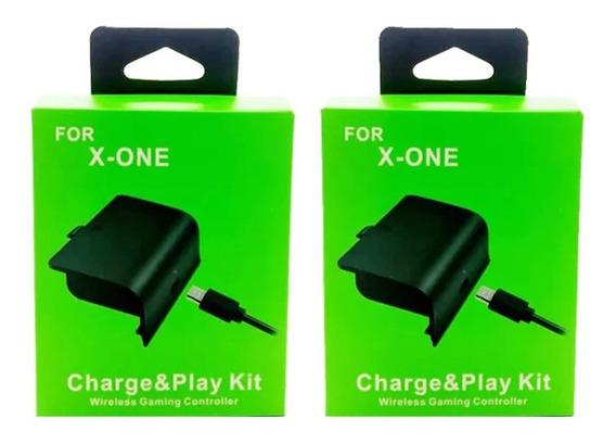 2 Carregadores + 2 Baterias De X One P/ Controles Sem Fio