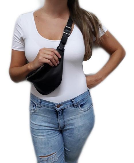 Riñonera Cuero Moda Mujer Regulable