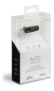 Audífono Auricular Bluetooth Con Manos Libres Plantronics M70 200739-13m70 Para 2 Teléfonos Control Por Voz