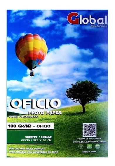 Papel Fotografico Oficio Brillante 180 Gramos X 20 Hojas