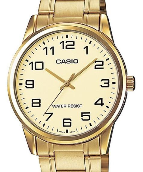 Relógio Casio Masculino Dourado Collection Mtp-v001g-9budf