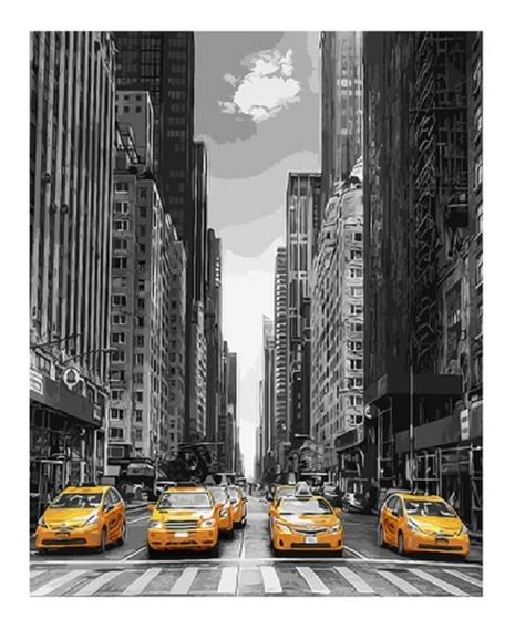 Lienzo Para Pintar Por Números New York Envío Gratis