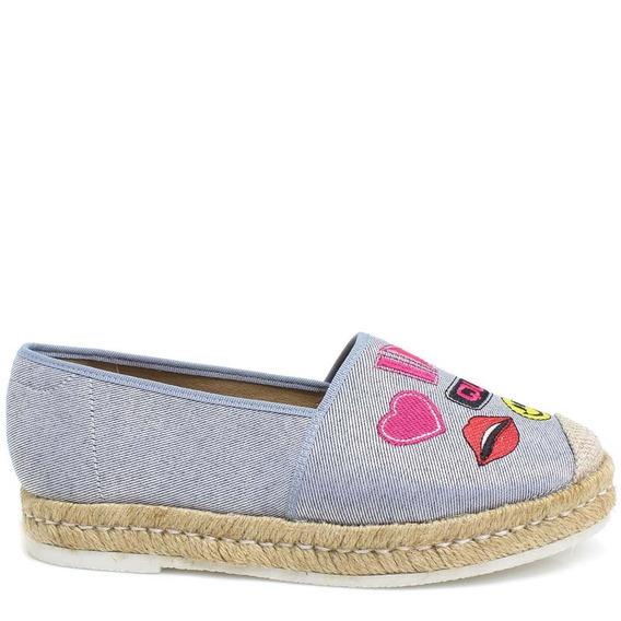 Sapatilha Zariff Shoes Alpargata Jeans Patches 4659202